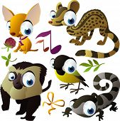 image of newt  - vector animal set - JPG