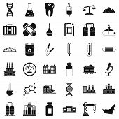 Chemical Molecule Icons Set. Simple Style Of 36 Chemical Molecule Vector Icons For Web Isolated On W poster
