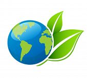 stock photo of planet earth  - Planet Ecology icon - JPG