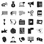 Chat Icons Set. Simple Set Of 25 Chat Vector Icons For Web Isolated On White Background poster
