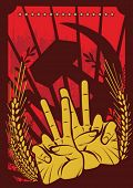 stock photo of communist symbol  - Propaganda Poster Series - JPG