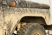 A Car In The Mud, After A Trip Off-road, Close-up poster