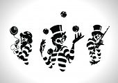 stock photo of circus clown  - Clown Illustration Series - JPG