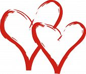 image of two hearts  - Valentine - JPG