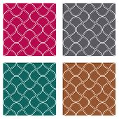 Abstract seamless pattern in four different colour