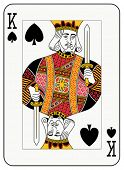 stock photo of playing card  - King of Spades playing card - JPG