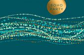 Luxury Horizontal Boho Style Element For Header, Card, Invitation, Poster, Cover And Other Web And P poster