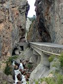foto of radium  - this is the narrow west entrance to Kootenay Nat - JPG