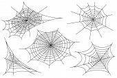Web Spider Cobweb Icons Set. Outline Illustration Of Web Spider Cobweb Vector Icons For Web. poster