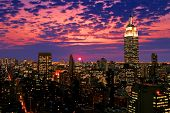 picture of empire state building  - Manhattan skyline in New York City USA - JPG