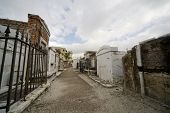 image of burial-vault  - Old tombs in an historic New Orleans cemetary - JPG