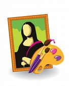 image of mona lisa  - picture icon - JPG