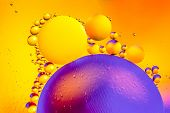 Space Or Planets Universe Abstract Background. Abstract Molecule Sctructure. Water Bubbles. Macro Sh poster