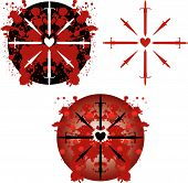 picture of serial killer  - Vector pattern symbolizing war with swords and splatters of blood - JPG