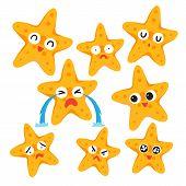 Starfish Vector Collection Design, Animals Vector Collection Design poster