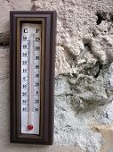 Wall Thermometers. Thermometer For Measuring Internal Or External Temperature.wooden. poster