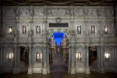 foto of vicenza  - Teatro Olimpico interior and stage in Vicenza Italy - JPG