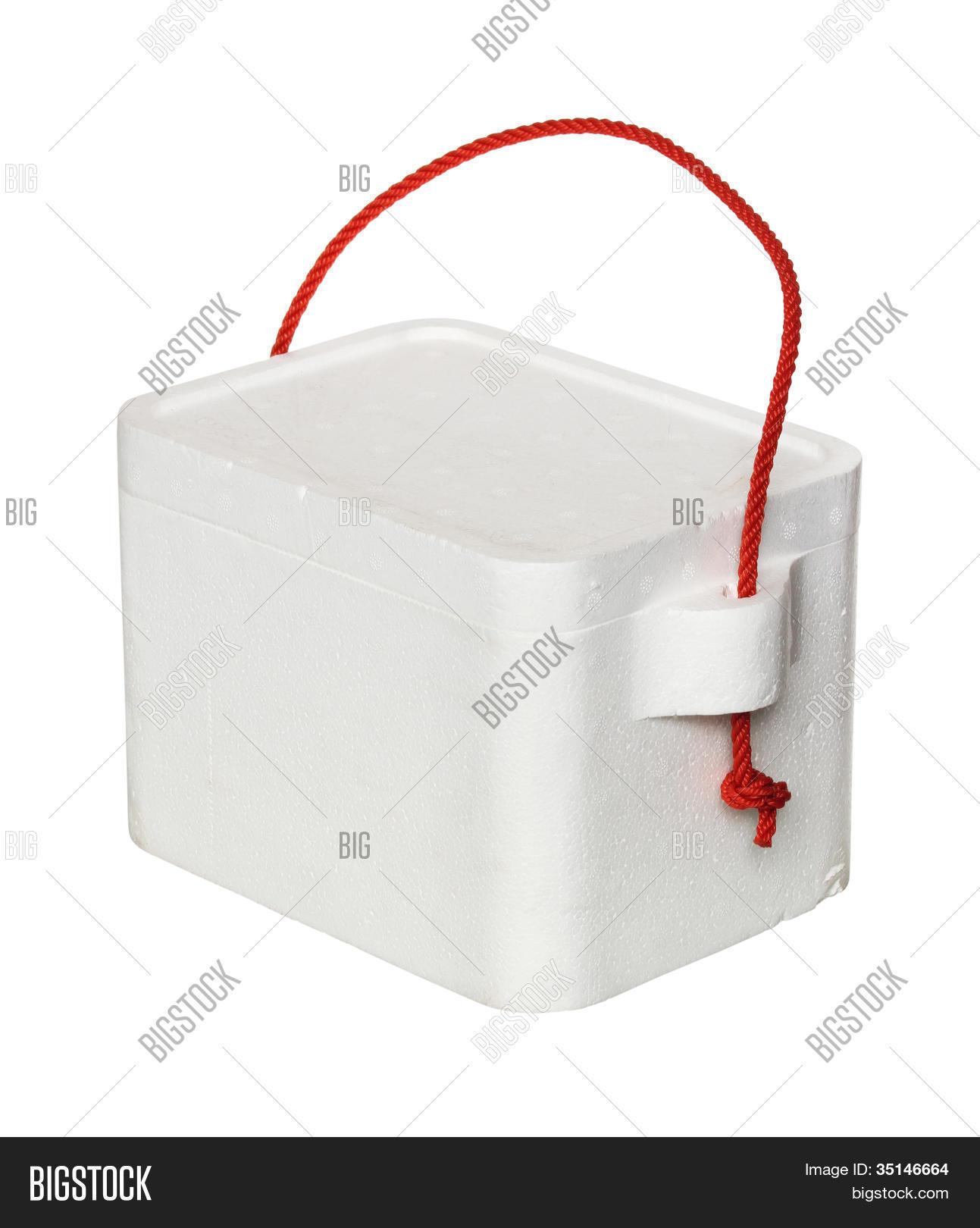 Large Styrofoam Coolers ~ Styrofoam cooler box image photo bigstock