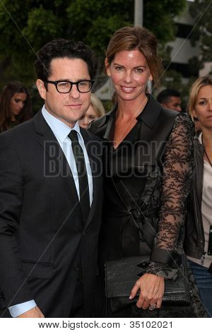 LOS ANGELES - JUN 8:  J.J. Abrams & Wife arriving at the