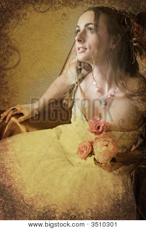 Grunge Bride With Long Hair