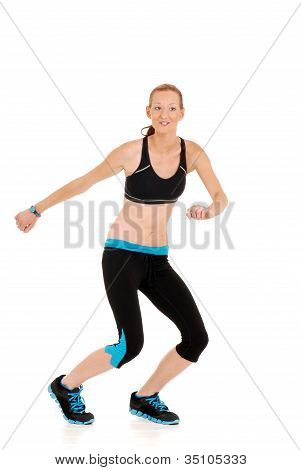 Dancing woman fitness