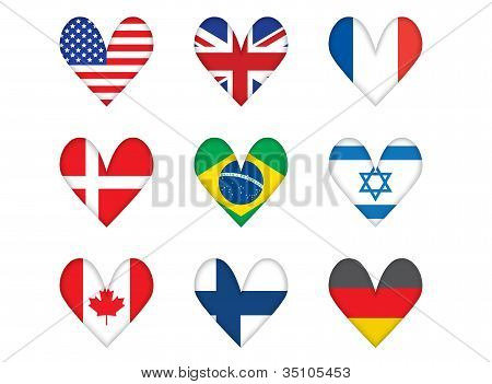 Heart-shaped Flags