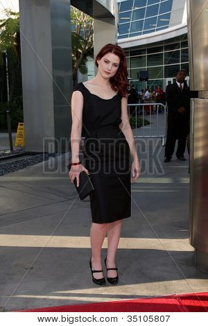 LOS ANGELES - JUN 21:  Alexandra Breckenridge arriving at the True Blood Season 4 Premiere at ArcLight Theater on June 21, 2011 in Los Angeles, CA
