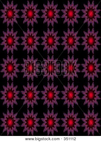 Embossed Pattern Star Redblack