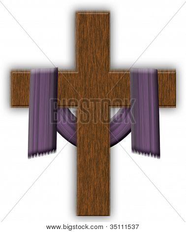 Purple Cloth and Cross  Cross Clipart