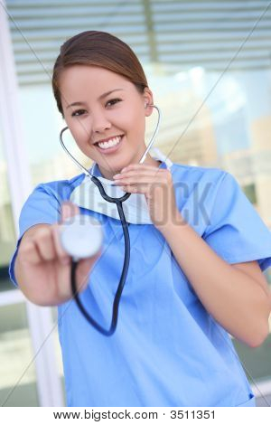 Woman Nurse At Hospital