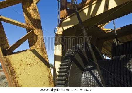 Detail Of A Quarry Crane