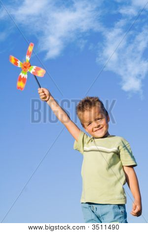 Boy With Pinwheel