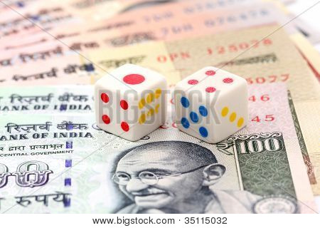 Currency Notes And Dice