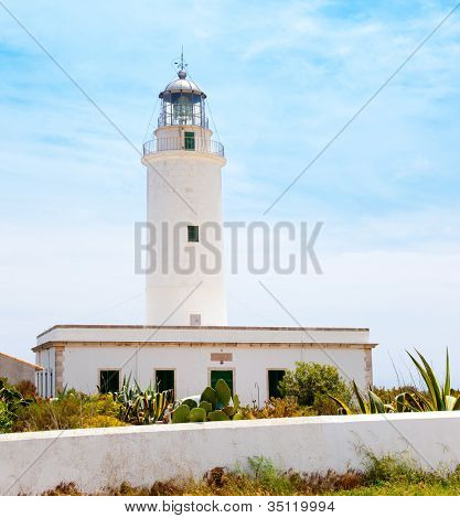 La Mola lighthouse in Formentera in Balearic islands