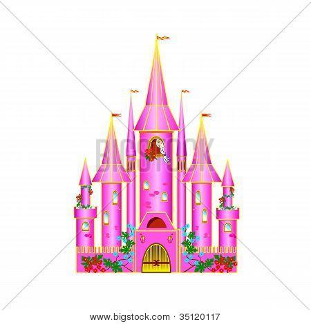 Cartoon Pink Castle