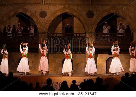 Sufi Dancer Row Tamborines Cairo