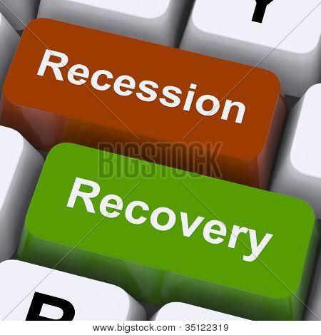 Recessão e chaves de recuperação mostram aumento ou diminuição