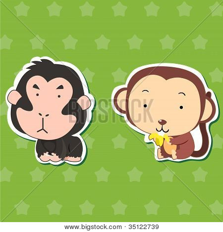 Cute Animal Stickers 02