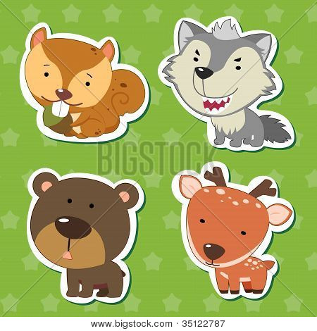 Cute Animal Stickers 07