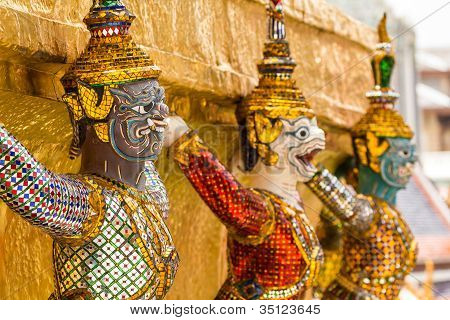 Giant Stand Around Pagoda At Wat Phra Kaew