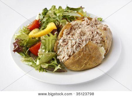 Tuna Mayo Jacket Potato With Side Salad