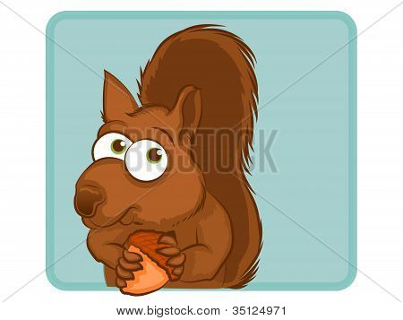 Squirrel Cartoon Character