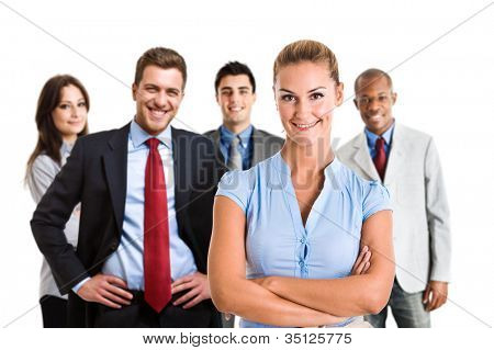 Group of smiling business people