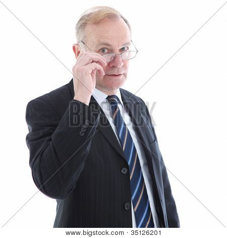 Judgemental Elderly Businessman