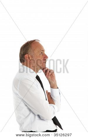 Businessman In Deep Contemplation
