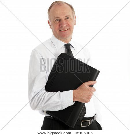 Friendly Middle-aged Business Executive