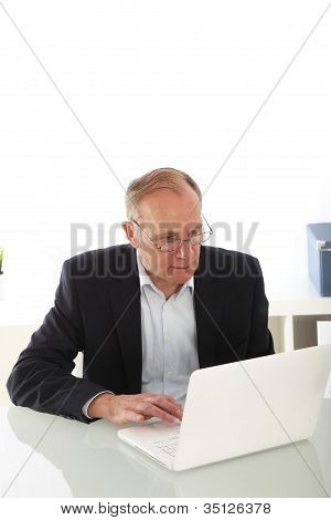Middle-aged Businessman With Laptop