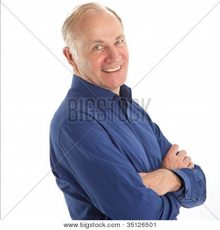 Friendly Man With Beaming Smile