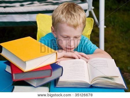 6-year Boy Reading Book