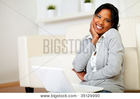 Cute Black Woman Smiling At You